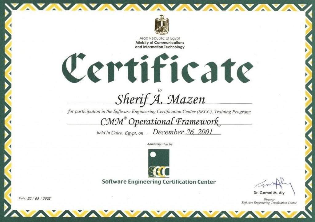 Certifications Sherif A Mazen