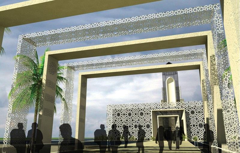 Kotakitaku Konsep Desain Masjid Modern Terapung Alresala Di Kairo